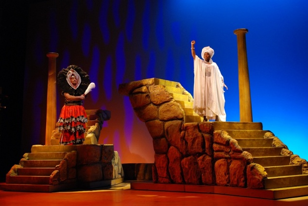 John Steven Crowley as Herod and Alexis J. Rogers as Gabriel